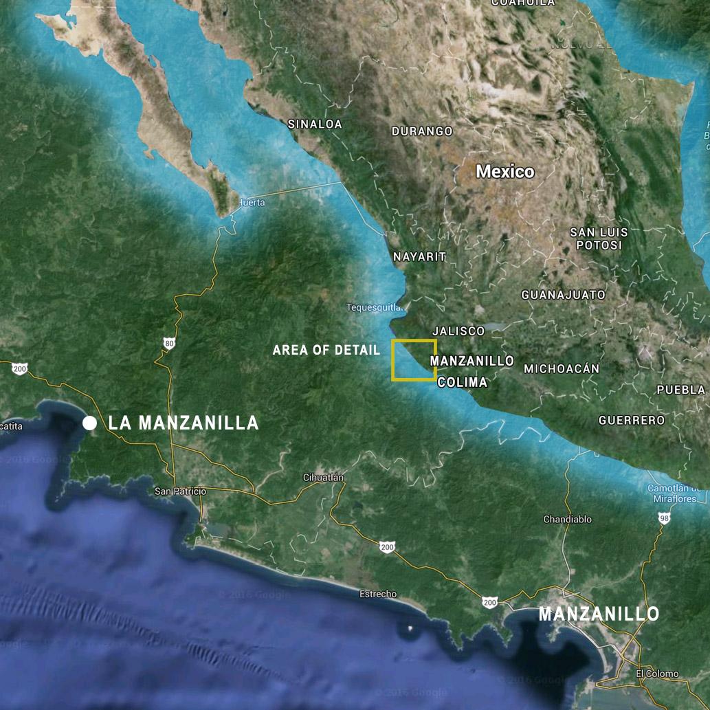 Getting Here Casa Carmen - Us airways location map