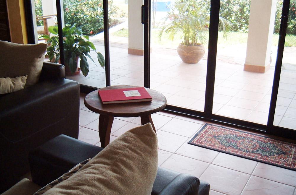 casa carmen - main patio doors
